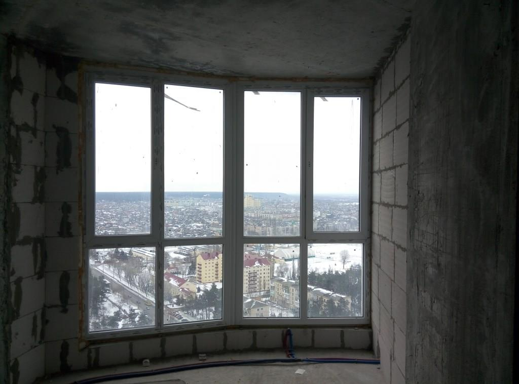Остекление балкона г. Буча